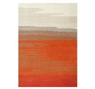 Orange Tones Hand-tufted Wool Rug FR 033