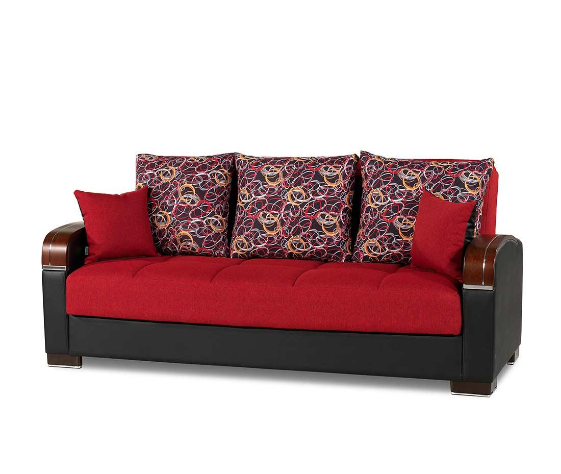 Prada Sofa Full Size Sleeper In Red Sofa Beds