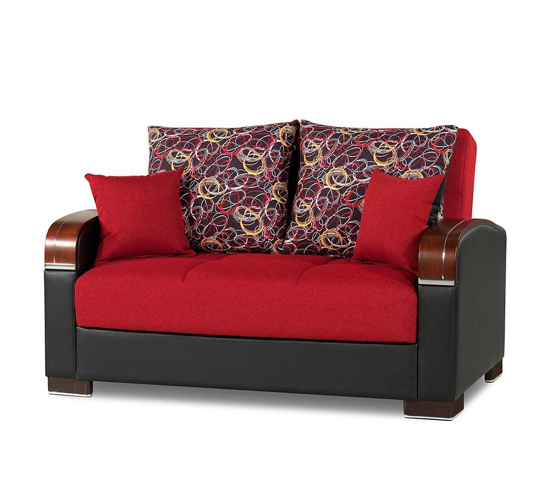 Prada Sofa Full Size Sleeper In Red
