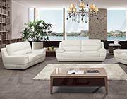 White Italian leather sofa set AEK 018
