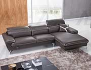 Taupe Italian leather sectional AEK 040