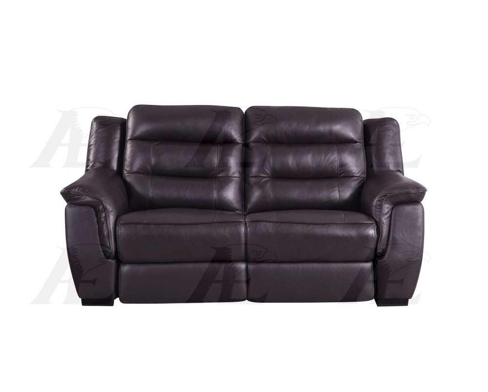 Dark Brown Electric Recliner Sofa Aek 089 Leather Sofas