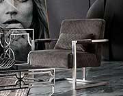 Grey Velvet Accent Chair DS Estudio