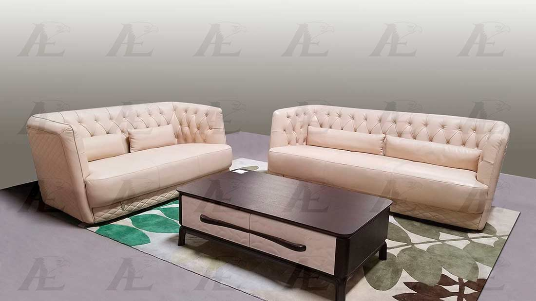 Cream Italian leather sofa AEK 694 | Leather Sofas