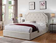 Beige Fabric Storage bed CO 1469