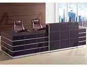Brown Faux Leather Reception Desk AE 01