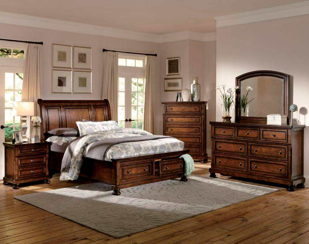 Transitional style bedroom he 159 classic bedroom - Transitional style bedroom furniture ...