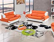 Orange Bonded Leather Sofa set AE 209