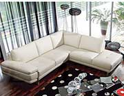 White Leather Sectional Sofa AE 025