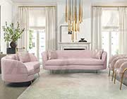 Pale Pink fabric sofa set AE 803