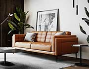 Murray 440 Tan Leather sofa by Moroni
