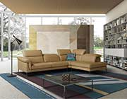 Taupe Leather Sofa Sectional NJ Bliss