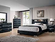 Black finish Bed FA Marilene