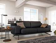 Dark Grey Leather Sectional Sofa 85