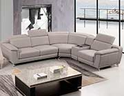 Leather Sectional Sofa in Gray AE 535