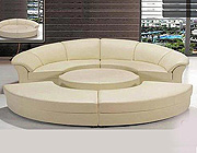 Circle Italian leather Sofa bed