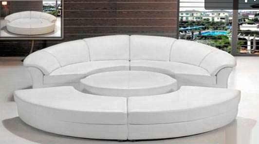 ... Circle Italian Leather Sofa Bed
