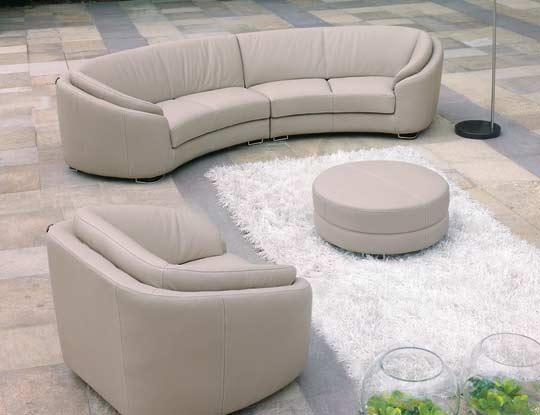 ... Round Modern Italian Leather Sofa M56 ...