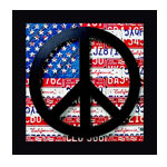 American peace sign, Wall Picture