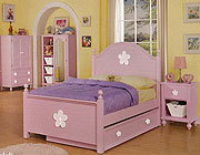Twin Bed in Pink Finish AC 730