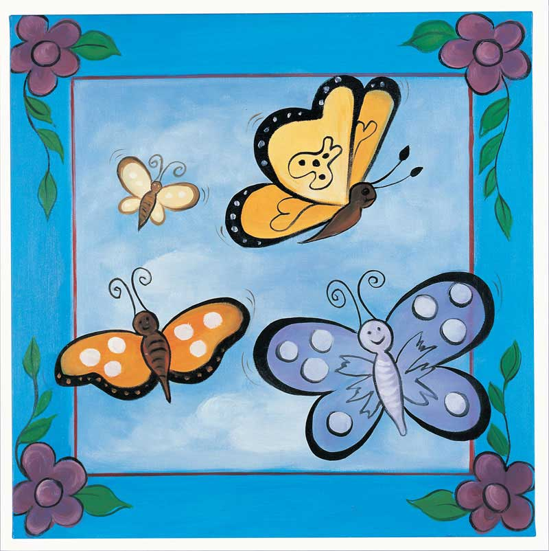 Gallery For gt Butterfly Paintings Kids