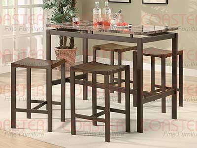 Atlas Counter Height Dining Set, Marble look top