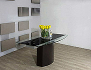 VG-688 Extendable Boat Shaped Glass Top Table