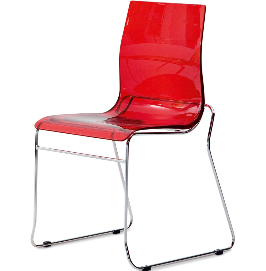 Gel t stackable dining chair by domitalia domitalia chairs for Stackable dining room chairs