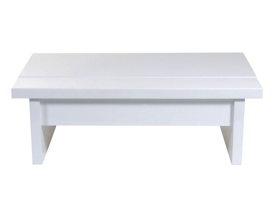 Almavar Coffee Table In White Lacquer Contemporary