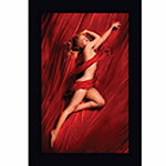 Marilyn Monroe in Red Silk Wall Painting