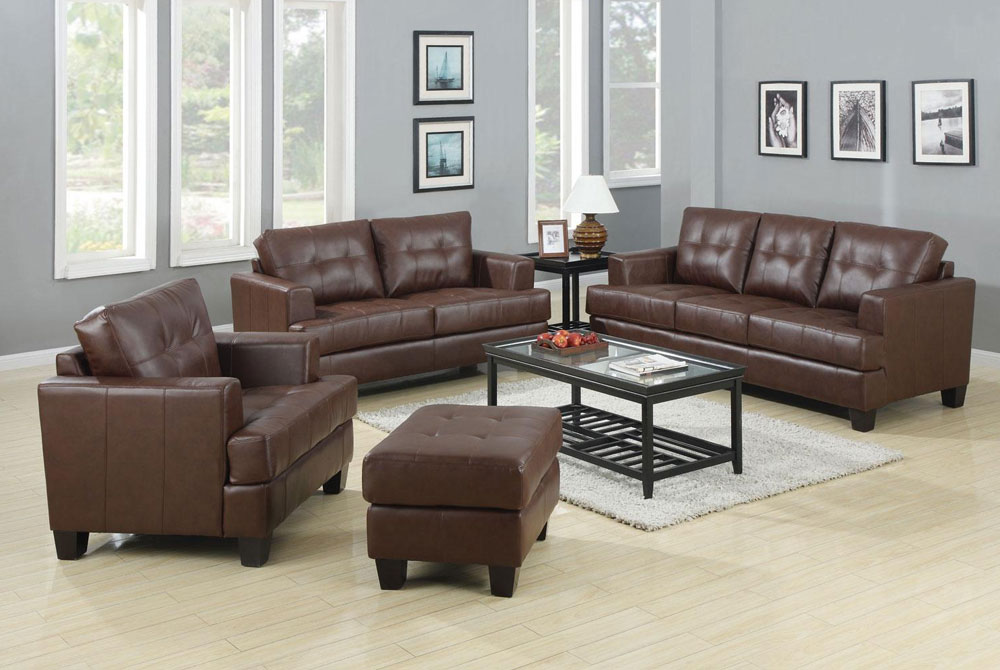 Brown Leather Sofa Set West | Leather Sofas