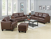 Brown Leather Sofa Set West