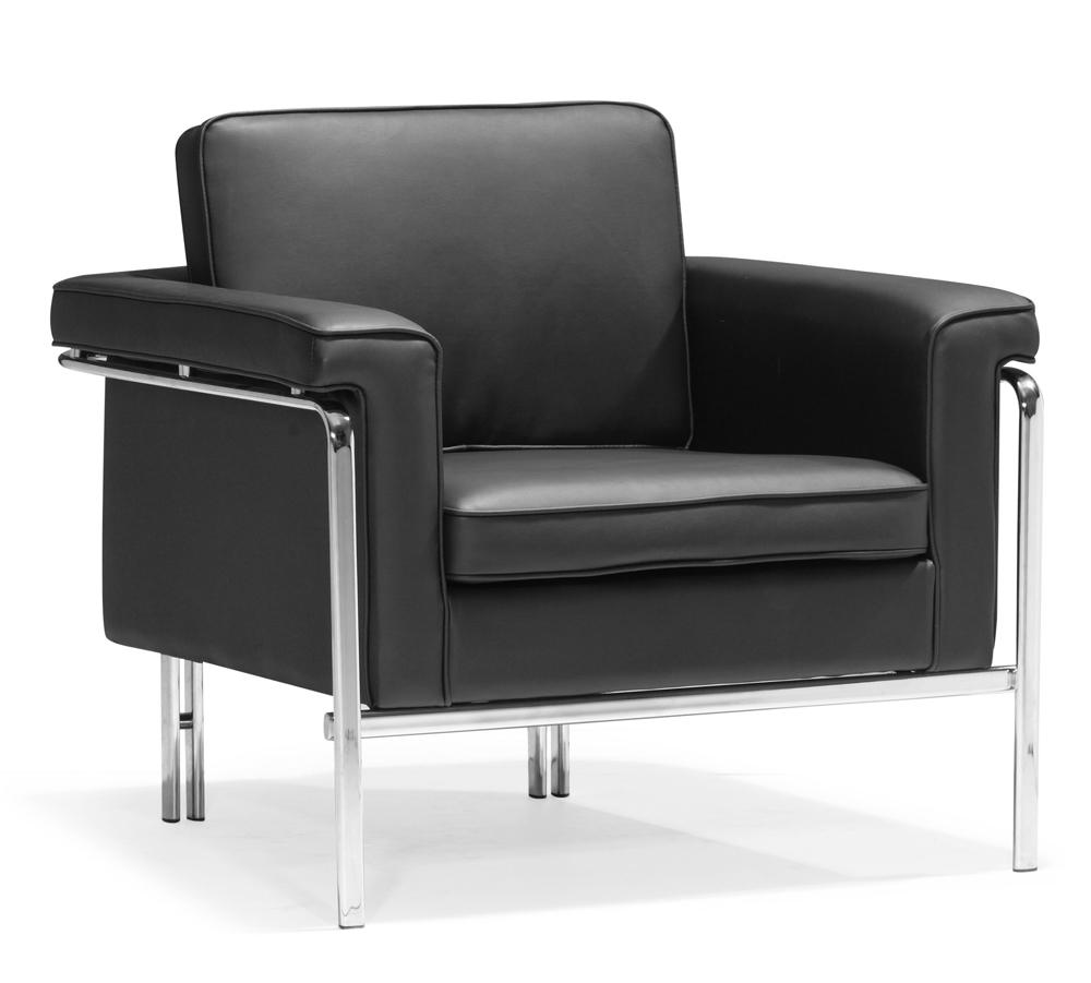 Single Sofa Set Designs: Modern White Leatherette Sofa Set Single