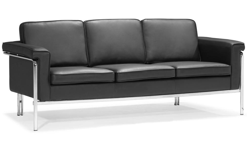 ... Modern White Leatherette Sofa Set Single ...