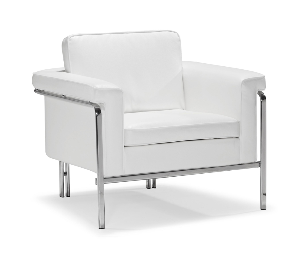 Modern White Leatherette Sofa Set Single · Modern White Leatherette Sofa  Set Single ...