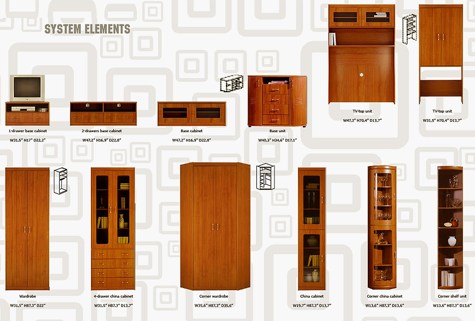 modern modular wall unit metro-4 | wall units