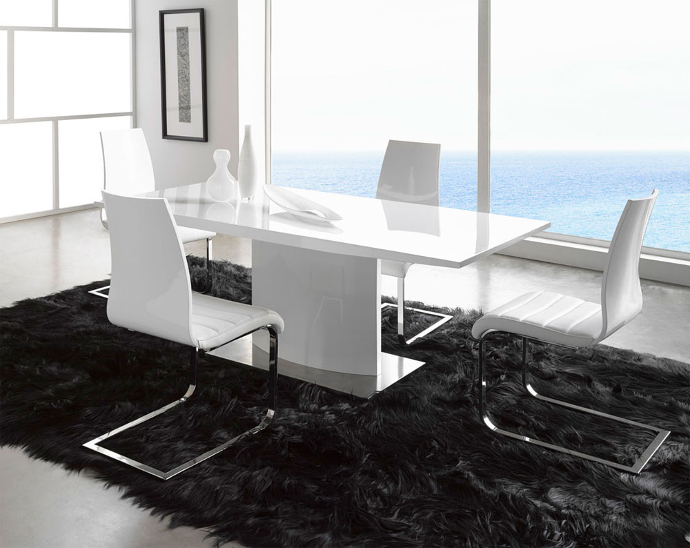 White modern dining table - Modern White Table Ef02