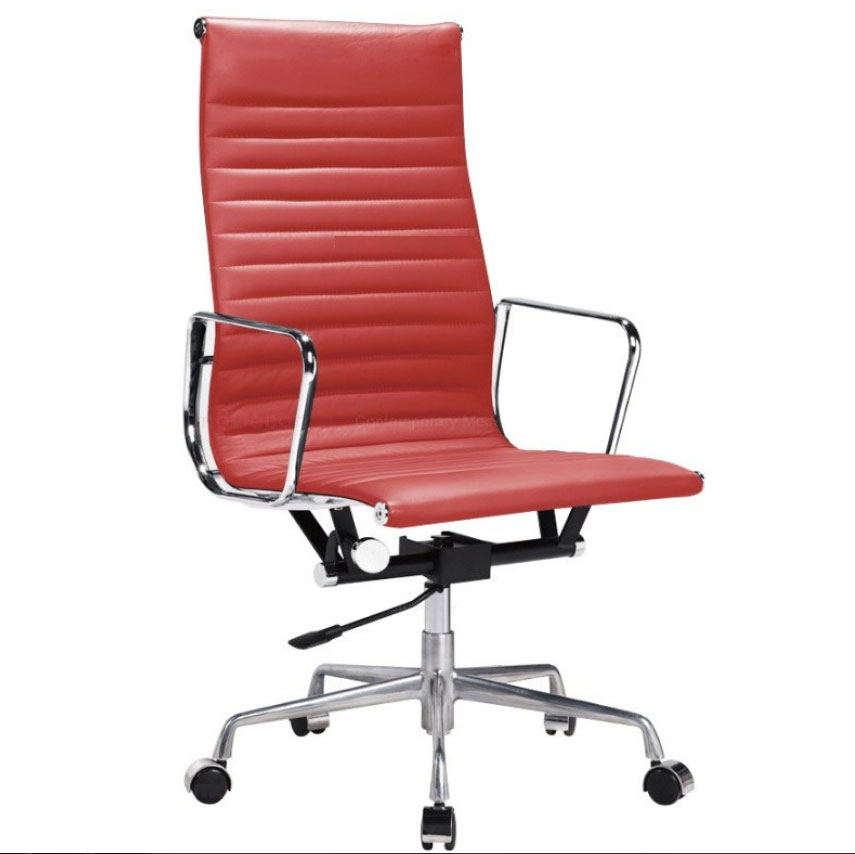 office furniture office chairs high back red leatherette of