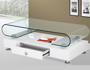 Modern white and glass coffee table BQ33