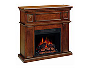 Traditional mahogany fireplace Collins