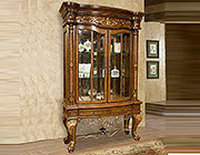 BT 043 Oak 2-Door China Display Cabinet