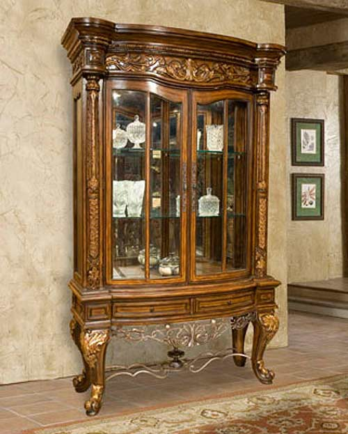 Bt 043 Oak 2 Door China Display Cabinet