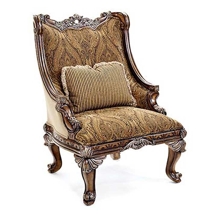 Bt 062 Classical Italian Mahogany Accent Arm Chair
