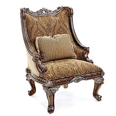 Bt 062 Classical Italian Mahogany Accent Arm Chair