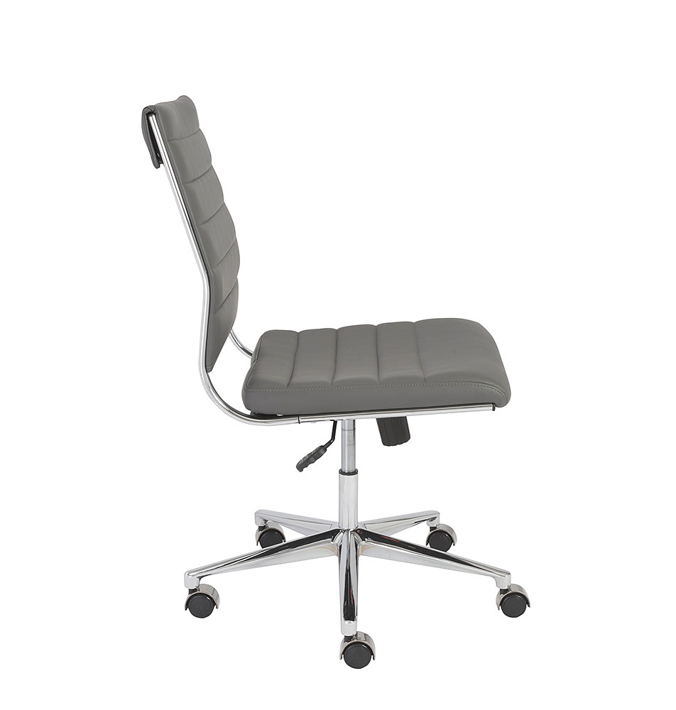 Axel low back armless office chair office chairs for Armless office chairs