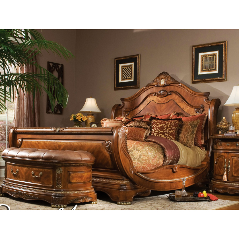 AICO Cortina Bed Aico Bedroom Furniture