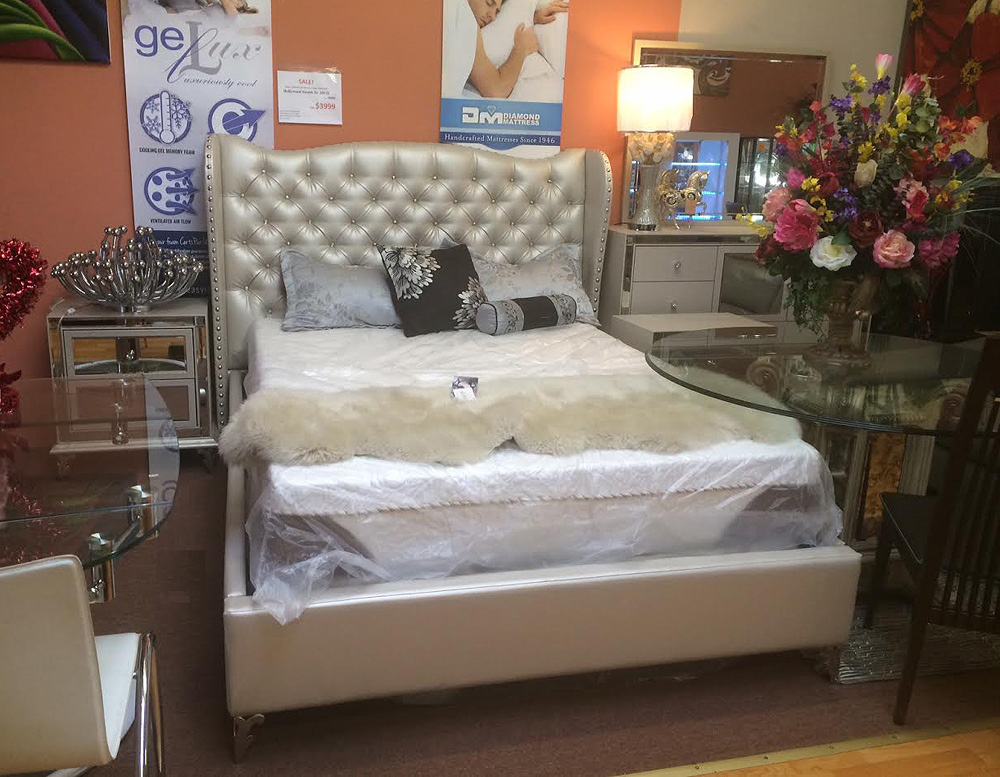 hollywood loft frost bed by aico aico bedroom furniture