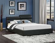 Maeva Upholestered Black Bed HE807