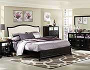 Nicole Black Sleigh Bed HE299