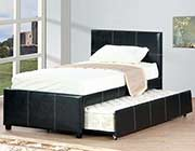Black leatherette Captain Bed W 340